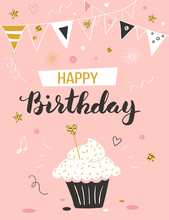 Happy Birthday Greeting Card W...