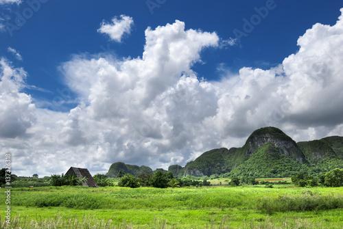 stormy clouds at valley of vinales,cuba Fototapeta