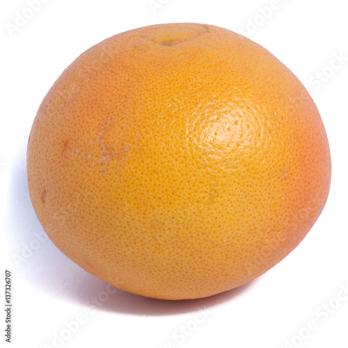Fototapeta a grapefruit isolated close up obraz na płótnie