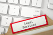 File Card with Legal Services. 3D.