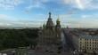 Church of the Savior on blood in Saint-Petersburg aerial shot