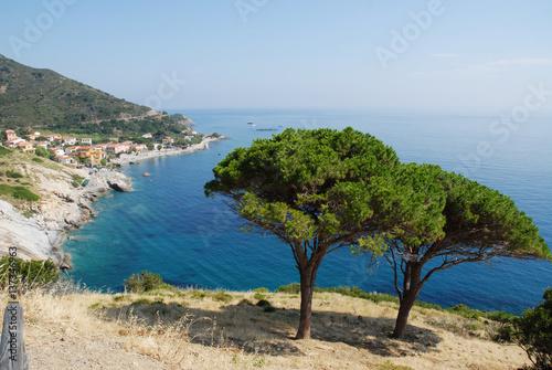 In de dag Kust Beautiful panoramic view over Elba island in Italy
