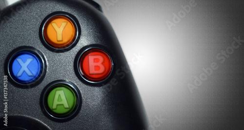Fotografía Close shot of game controller