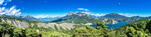 Panoramic View To The Lac De Serre Poncon