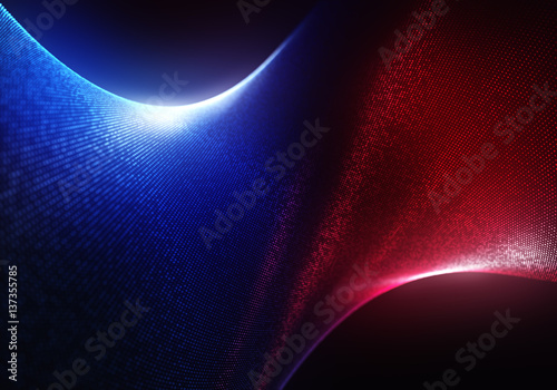 Staande foto Abstract wave Abstract Colourful Particles Background with the Depth of Field and Glow