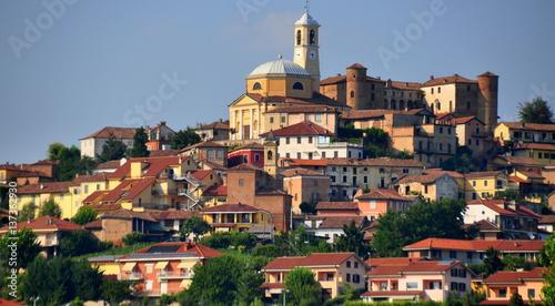 Blick auf das malerische Asti im Piemont Canvas Print