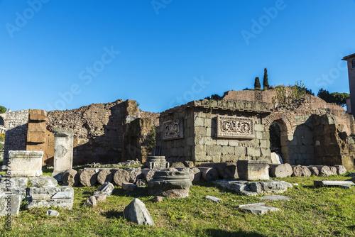 Zdjęcie XXL Romańskie ruiny Palatino w Rzym, Włochy