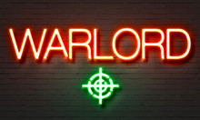 Warlord Neon Sign On Brick Wal...