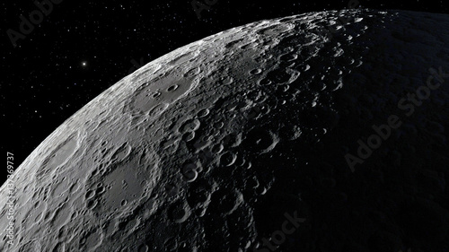Fotografiet  3d illustration of the Moon
