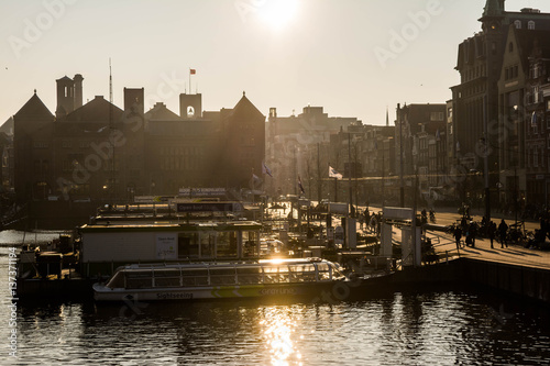 Photo  Amsterdam sunset