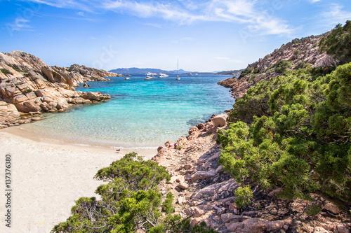 Beach of Cala Coticcio, Sardinia, Italy Canvas Print