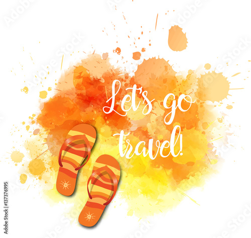 Travel abstract background