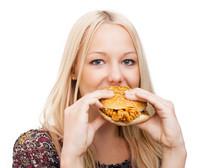 Woman Eatiing Burger