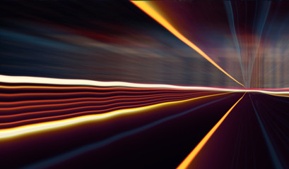 Speed motion on the road/Abstract image of speed motion on the road at dark