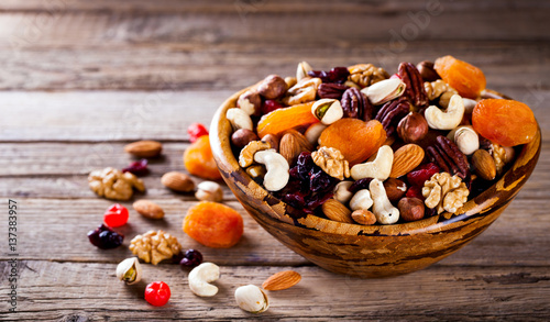 Fotografía  Nuts and dried fruit mix