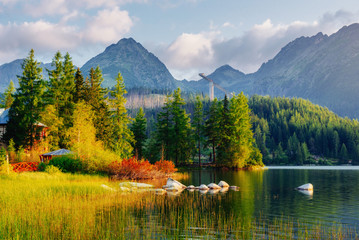 Fototapeta Inspiracje na lato Fantastic Shtrbske Pleso High Tatras. Slovakia, Europe