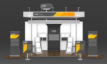 Exhibition Case Design 3D Composition