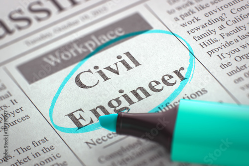 Now Hiring Civil Engineer. 3D.