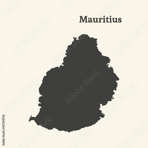 Outline map of Mauritius. vector illustration. - Buy this stock ...