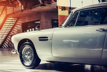 The Exhibition Of Beautiful Vintage Cars.