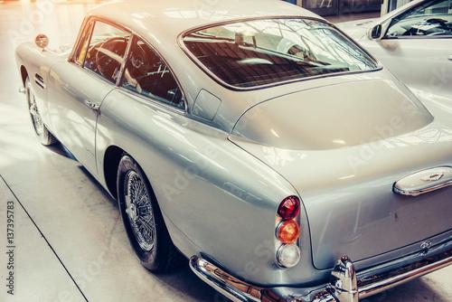 Keuken foto achterwand Vintage cars Some antique classic car. Beautiful retro style transport exhibition.