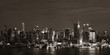 Manhattan midtown skyline at night