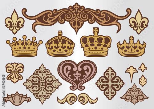 Foto  王冠 飾りセット