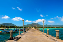 Port For Cruise Ships In Con Dao Island Of Vung Tau Province, Vietnam.
