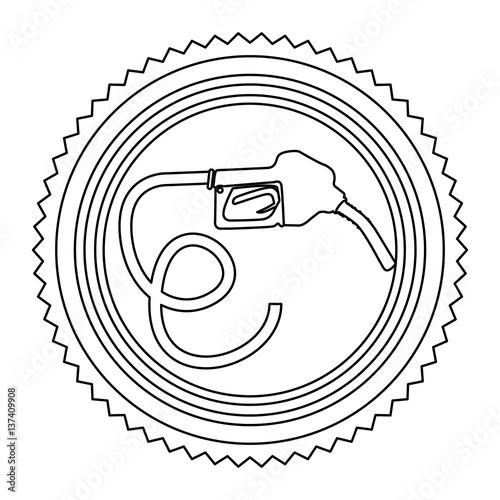 Circular Frame Contour With Bio Fuel Hose Vector Illustration