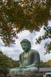 Japan travel in autumn season,Great Buddha of Kamakura (Kamakura Daibutsu),Bronze statue of Amida Buddha in Kotokuin Temple, Kamakura, Kanagawa, Japan