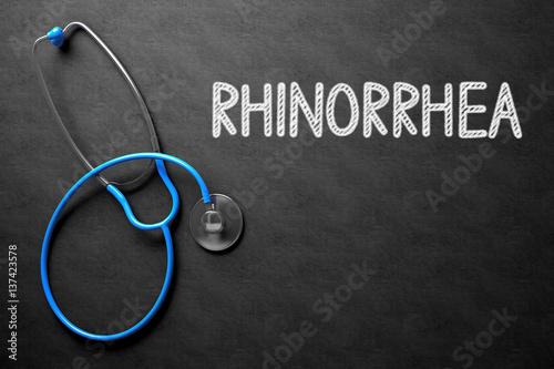 Fotografie, Obraz  Chalkboard with Rhinorrhea Concept. 3D Illustration.
