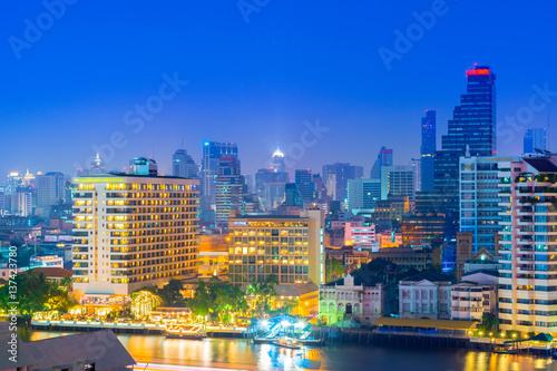 Bangkok skyscaper with hotel view. Poster