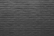 Horizontal Part Of Grey Painted Brick Wall