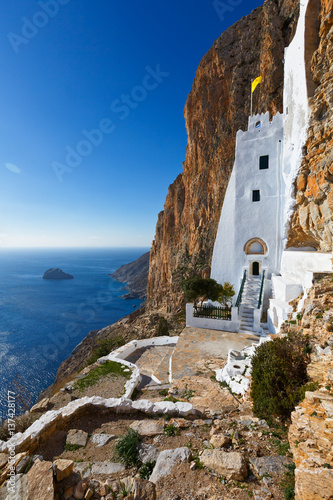 Monastery of Panagia Hozoviotissa on Amorgos island. Wallpaper Mural