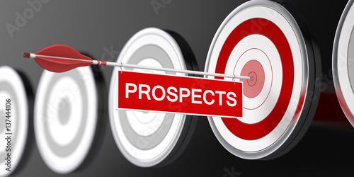 Fototapeta  Prospects / Target / 3d