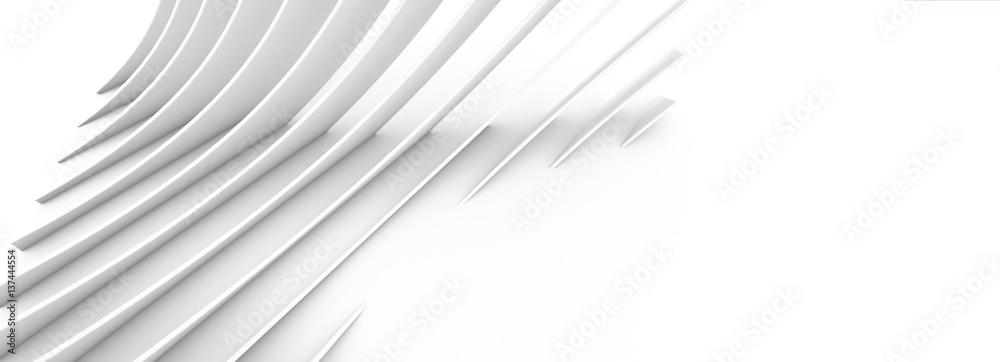 abstrakte Architektur mit runden Elementen  - modern architecture as background image