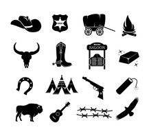 Cowboy, Western, Wild West Ico...