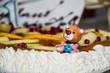 decorazione su torta di pasticceria