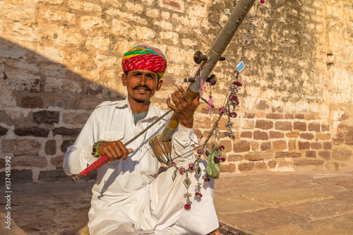 Traditional Rajasthani musician Fototapeta