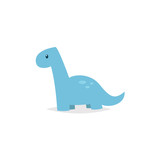 Fototapeta Dino - Cute dinosaur  brachiosaurus cartoon vector
