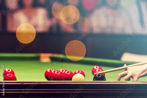Fotografie, Obraz  Snooker