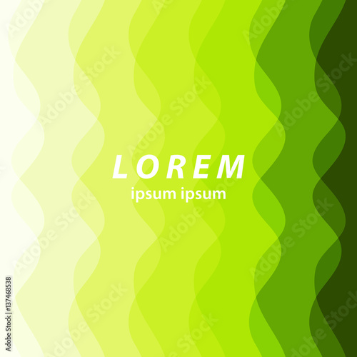 Fototapety, obrazy: green abstract background. smooth wavy lines, abstract wave background for presentation fashion or business