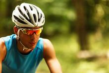 Portrait Of Mountain Biker Wit...