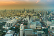 Aerial view Bangkok city central business downtown skyline, Thailand