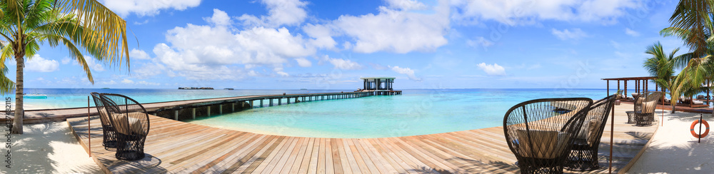 Fototapeta Panoramic view of Maldives