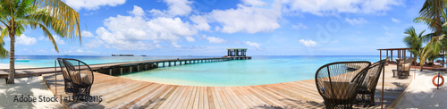 Fotografia  Panoramic view of Maldives