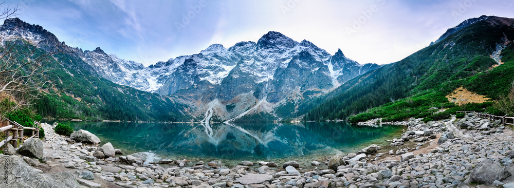 Fototapety, obrazy: Tatra mountains Morskie Oko lake