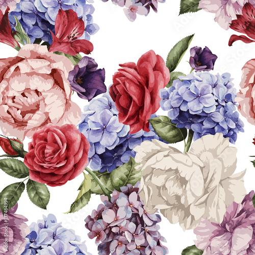 kwiatowy-wzor-z-roz-akwarela-ilustracji-wektorowych