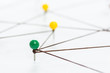Color pins connected