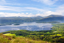 Loch Lomond Seen From The Hill...